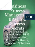 Business Process Management BPM 100 Success Secrets
