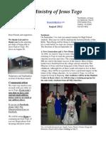 Newsletter 12 August