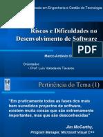 Riscos Em Desenvolvimento de Software