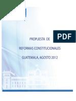 GT Reformas Constitucionales Agosto 2012