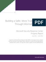 MSRC Progress Report 2012