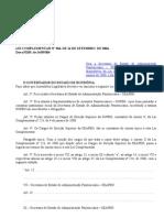 LEI COMPLEMENTAR Nº 304, DE 14 DE SETEMBRO  DE 2004.