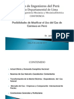 Posibilidades de Masificar el Uso del Gas de camisea en perú-julio 2011
