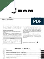 2012 Ram Cargo Van Owners Manual