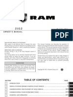 2012 Ram Cargo Van Owners Manual