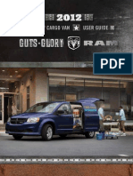 2012 Ram Cargo Van User Guide