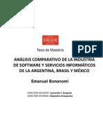 Análisis comparativo de la industria de software y servicios informáticos de la Argentina, Brasil y México