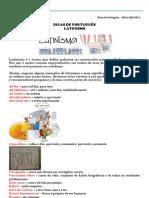 DICAS DE PORTUGUÊS DGS.E.004.2012 - LATINISMO