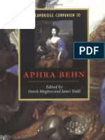 The C C to Aphra Behn
