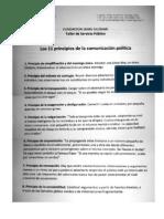 Los 11 principios de la Comunicación Política. Jóvenes Fundación Jaime Guzmán