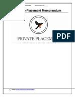 Sample Private Placement Memorandum