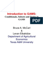 Introduction to GAMS