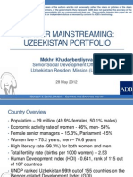 The Challenges of Gender Mainstreaming in Infrastructure Projects in Uzbekistan