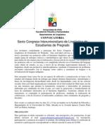 Convocatoria Sexto Congreso de Lingüística de Estudiantes de Pregrado