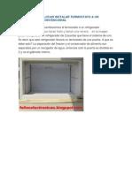 Como Poner Colocar Instalar Termostato a Un Refrigerador Convencional