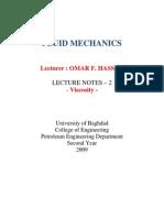 Fluid Mechanics Lectures (2) (University of Baghdad) - Omar F. Hasan