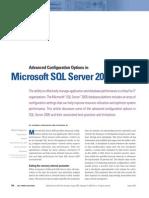 OpçõEs de Configuração AvançAdas No Microsoft SQL Server 2005