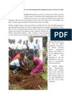 AAR Uganda Carries Out a Deworming and Tree Planting Exercise at St Mary