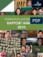 Rapport d'Activité 2010 - Fondation GoodPlanet