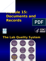 Control of documents and records