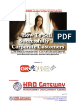 How to Sell Successfully to Corporate Customers inhouse program facilitated by G K Lim and Danniel Lim