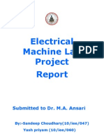 Electrical Machine Lab Project