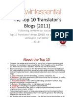 The Top 10 Translator Blogs 2011