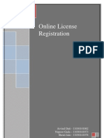 Online License Registration