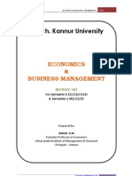 Economics & Business Management( EBM ). Note. free download-pdf - Manu K M
