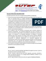 Decreto X HUELGA NACIONAL INDEFINIDA DEL SUTEP