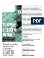 """""""SCRIVERE E LEGGERE DI MAFIE"""""""