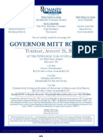 An Evening with Mitt Romney for Romney Victory Inc.