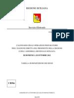 Calendario Delle Operazioni Per Le Elezioni Regionali Del 2012 in Sicilia