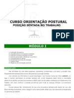 Cartilha - Curso - Orientacao Postural - Posicao Sentada - Modulo i - Word