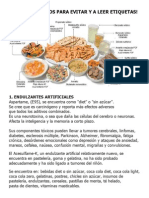 Top Ten Aditivos en los alimentos perjudiciales para la salud