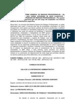 Sentencia Consejo de Estado Destinacion de Recursos de Riesgos Profesionales