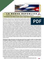 LNR 47 (Revista La Nueva Republica) Cuba CID 21 Agosto 2012