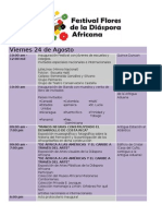 Progama Actividades Festival Flores de la Diáspora Africana