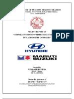 Comparative Study of Maruti and Hyundai