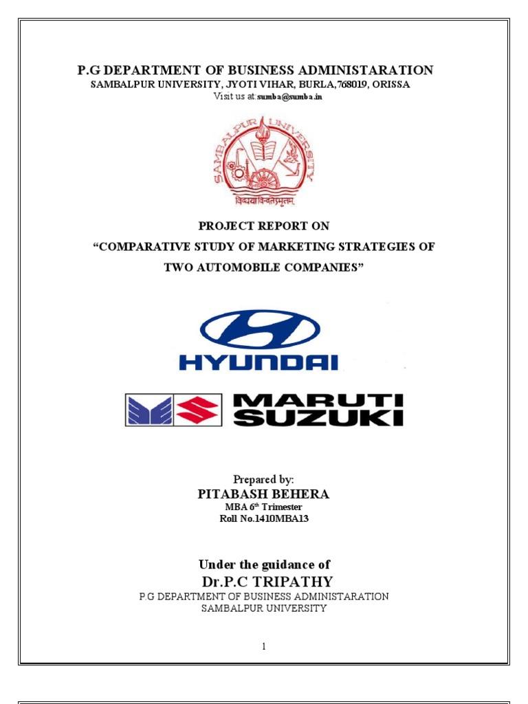 questionnaire of maruti suzuki and hyundai