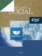 Univali   Balanço Social 2011