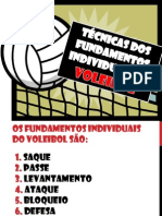 TÉCNICAS DOS FUNDAMENTOS INDIVIDUAIS DO VOLEIBOL