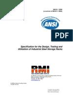 ANSI SteelStorageRack Standards