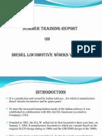 45187594 Summer Training Diesel Locomotive Works Ppt