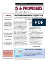 Payers & Providers Midwest Edition – Issue of August 21, 2012