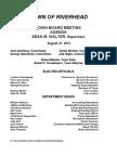 Riverhead Town Board August 21, 2012 - Agenda