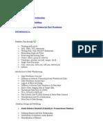 ETL - Informatica Topics