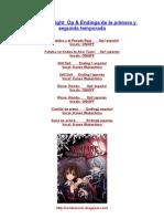 Vampire Knight Lyrics de Rondo_ Music
