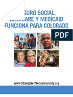 Social Security, Medicare and Medicaid Work For Colorado (Spanish) 2012
