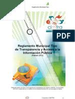 Reglamento Municipal Tipo Transparencia CIMTRA